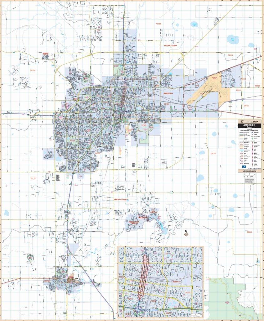 Amarillo, Tx Wall Map – Kappa Map Group - Texas Wall Map