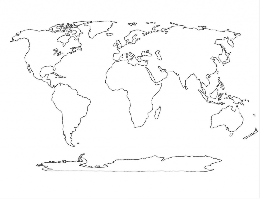 Amazing World Map Template 4   Maps In 2019   World Map Outline - World Map Stencil Printable