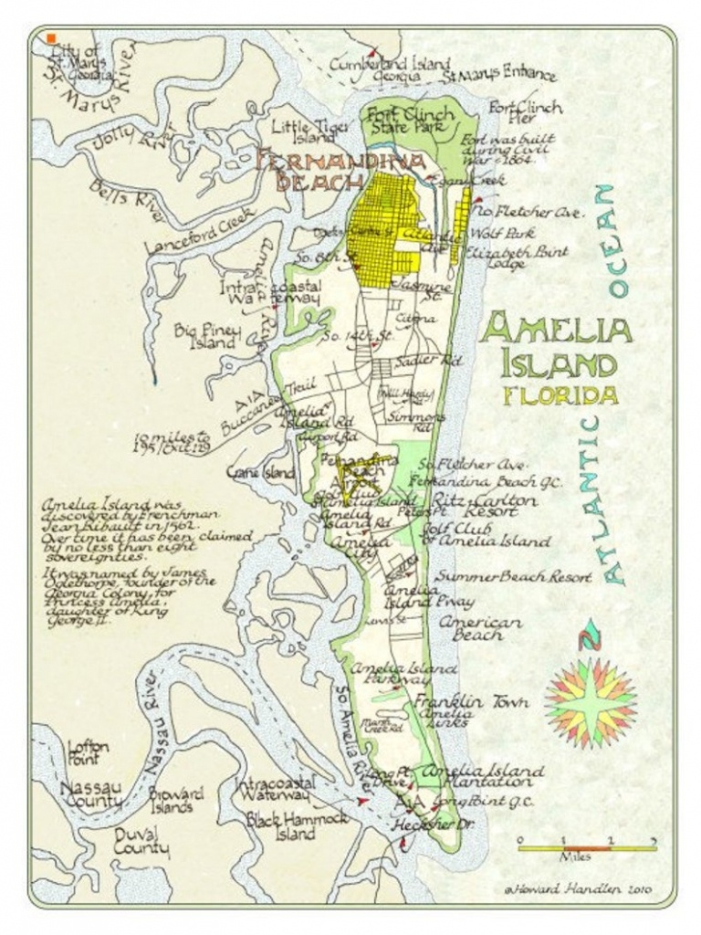 Amelia Island Florida In Two Sizes | Etsy - Amelia Island Florida Map