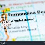 Amelia Island Florida Usa On Map Stock Photo (Edit Now) 1120491035   Amelia Island Florida Map