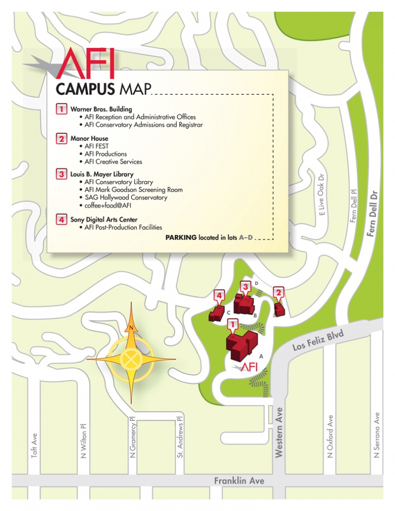 American Film Institute - Afi Conservatory Campus Map And Directions - California Institute Of The Arts Campus Map