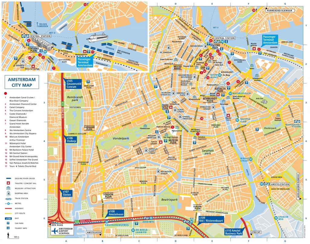 Amsterdam Attractions Map Pdf - Free Printable Tourist Map Amsterdam - Printable Tourist Map Of Amsterdam