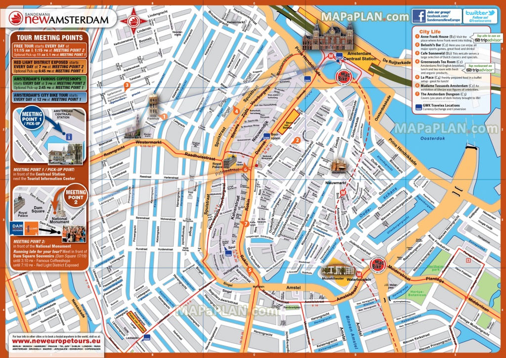 Amsterdam Maps - Top Tourist Attractions - Free, Printable City - Tourist Map Of Amsterdam Printable