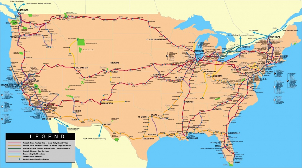 Amtrak Route Map Southern California Amtrak Station Map Eastern Us - Amtrak Station Map California