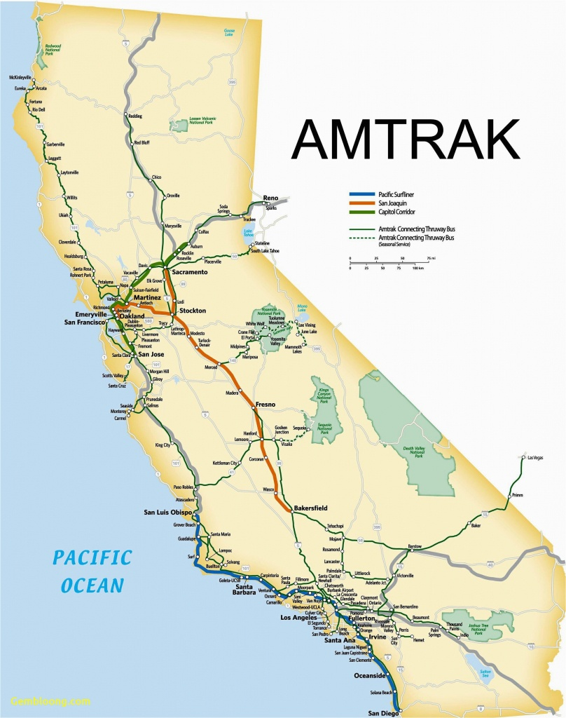 Amtrak Stations In California Map California Amtrak Route Map Www - Amtrak California Map