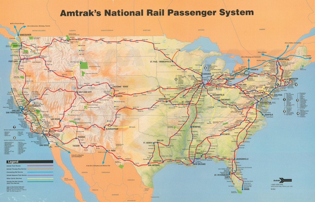Amtrak System Map, 1993. — Amtrak: History Of America's Railroad - Map Of Amtrak Stations In Texas