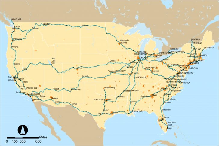 Amtrak Map California