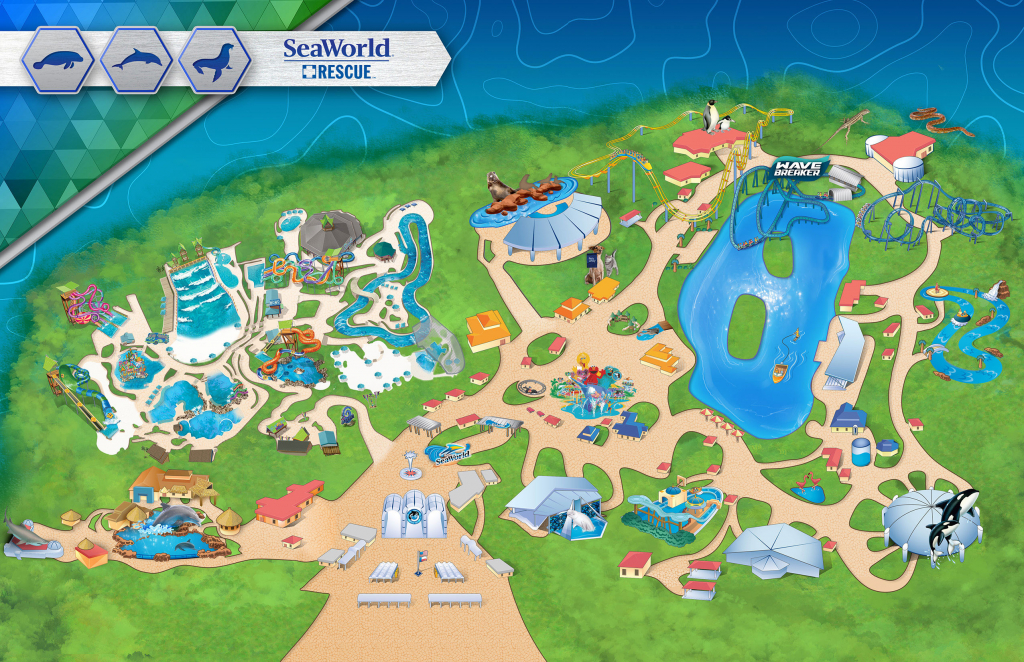 Amusement Parks In The Us Map Themeparkmap Best Of Seaworld San - Printable Sea World San Diego Map