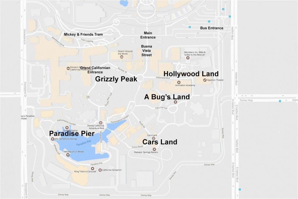 Anaheim California Map Google Maps Of The Disneyland Resort - Anaheim California Map