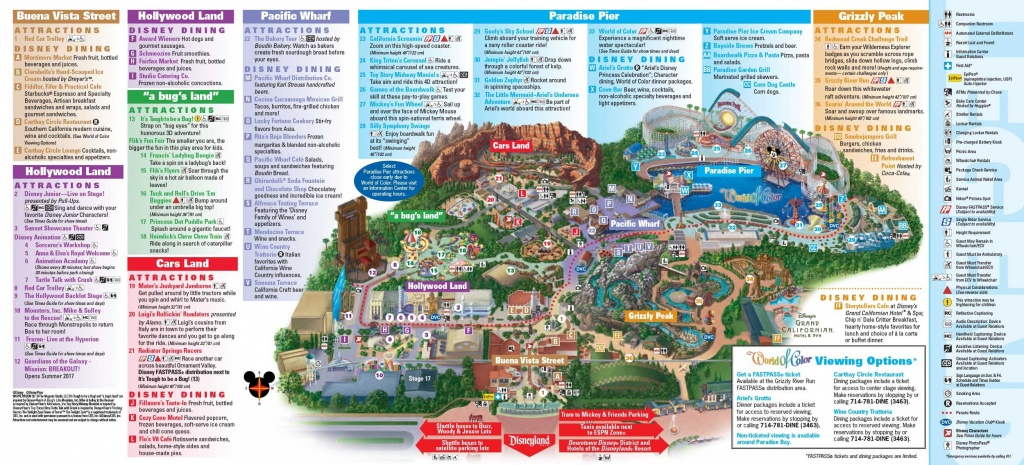 Anaheim Disneyland Map Disney California Adventure | D1Softball - Disney California Map