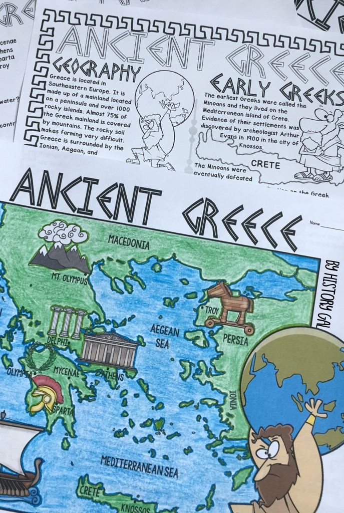 Ancient Greece Map Activity | History Gal | Map Activities, Ancient - Map Of Ancient Greece Printable