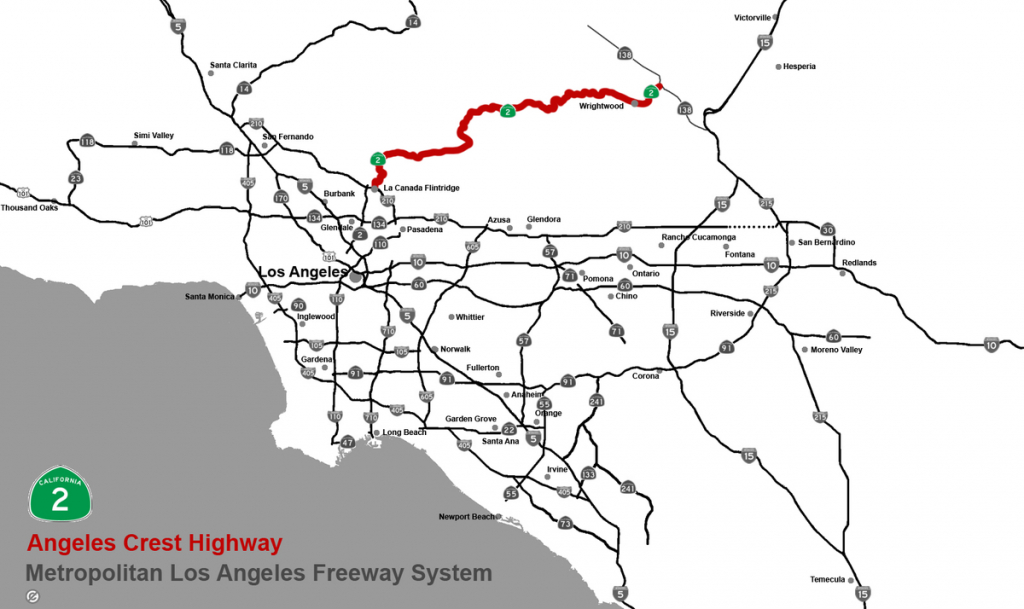 Angeles Crest Highway - Wikipedia - Map Of Southern California Freeway System