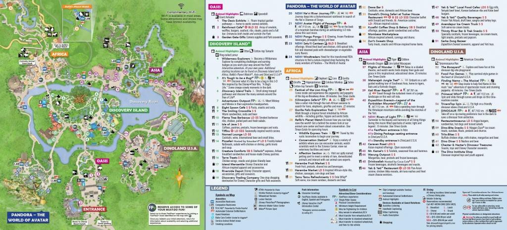 Animal Kingdom Itinerary In 2019 | Disney World | Disney World Map - Printable Disney World Maps 2017