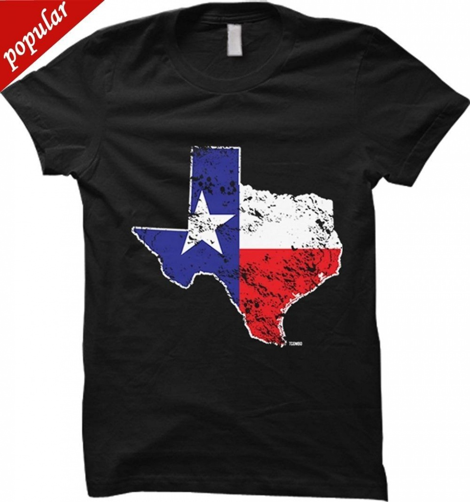 Anime Print Tee Texas State Map Usa Womens T Shirt Funny Printing T - Texas Not Texas Map T Shirt