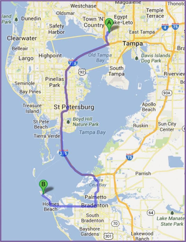Anna Maria Island Maps - Anna Maria Island In Florida Map