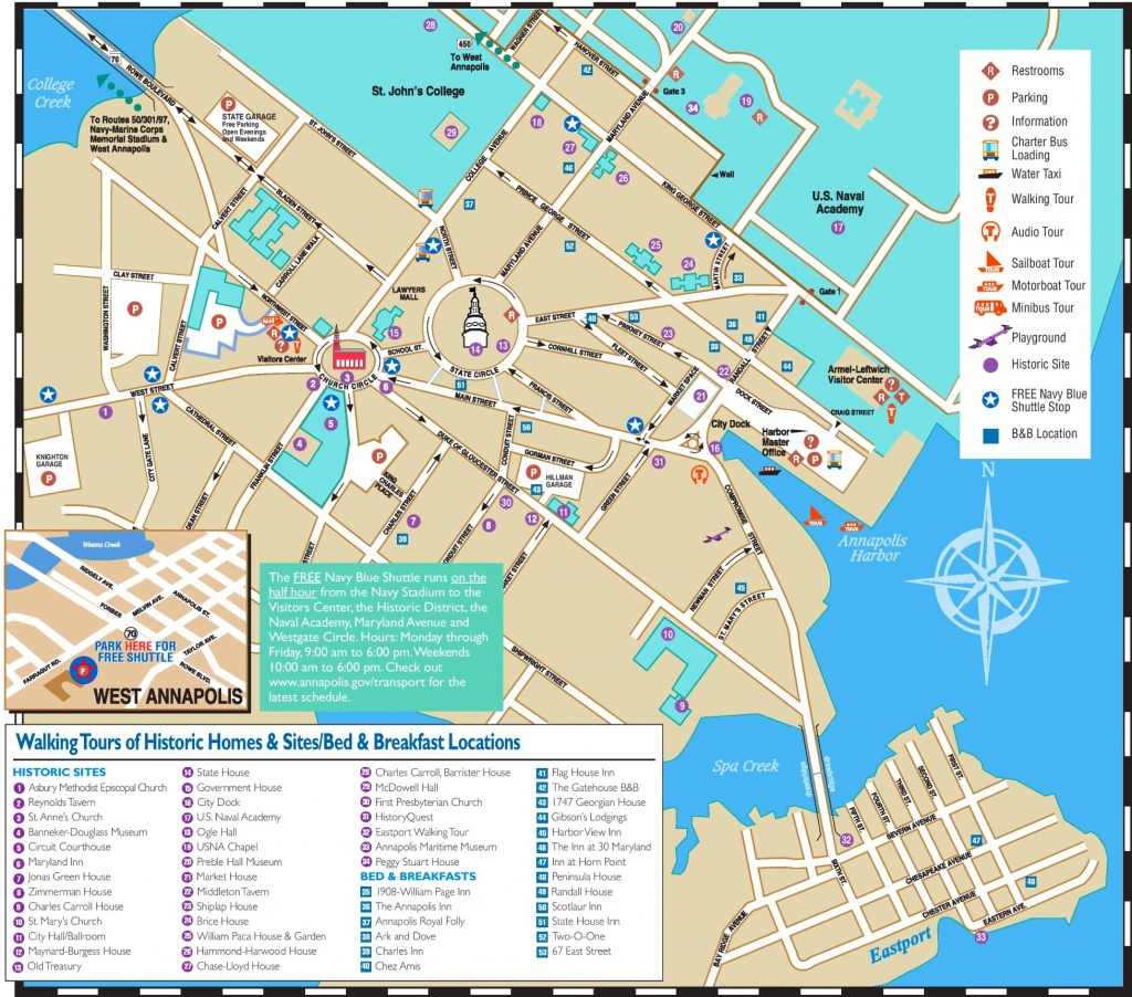 Annapolis Hotels And Sightseeings Map - Street Map Of Stuart Florida