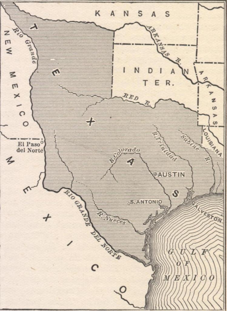 Annexation Of Texas - Civil War In Texas Map