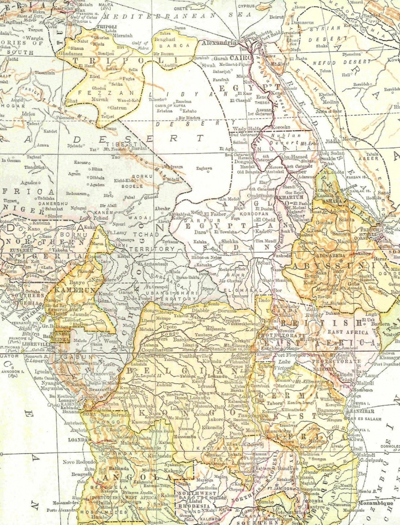 Antique Images: Free Digital Map Background: Vintage Map Of Africa - Printable Maps For Wedding Invitations Free