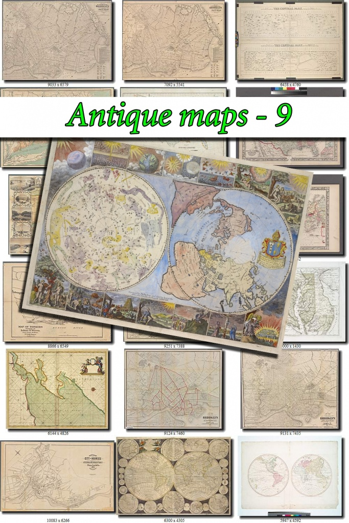 Antique Maps-9 Collection Of 130 Large Size Images Printable Old - Printable Old Maps
