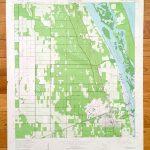 Antique Vero Beach Florida 1949 Us Geological Survey | Etsy   Map Of Vero Beach Florida Area