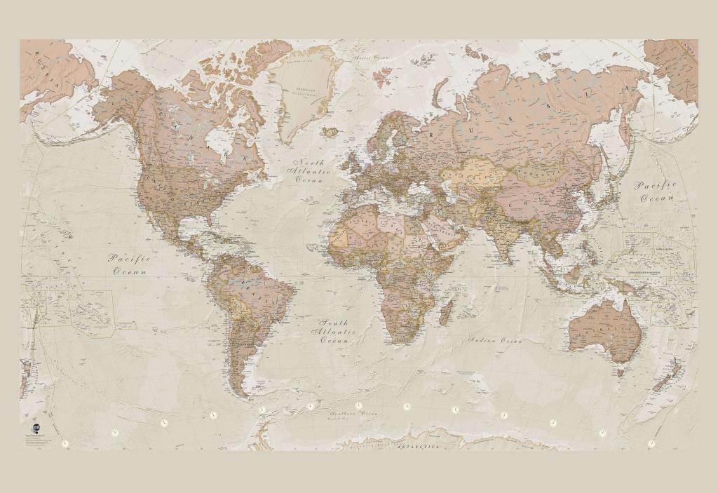 Antique World Map Wallpaper - Printable Children's Map Of London