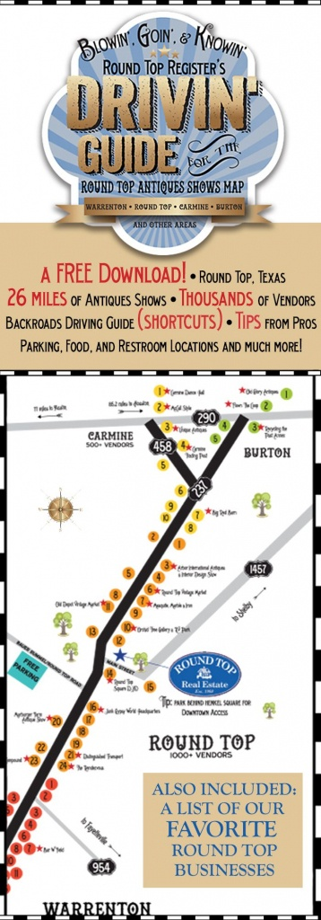 Antiques Show Map - Round Top Register | Thrifty Destinations - Canton Texas Flea Market Map