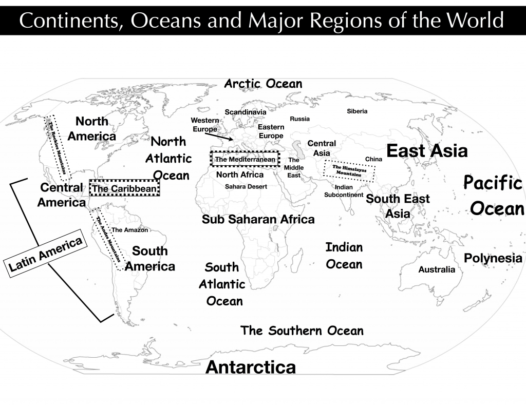 Ap World Regions Map Quiz History Best Of In 12 0 5B4E01E1Eb1E1 - Continents And Oceans Map Quiz Printable
