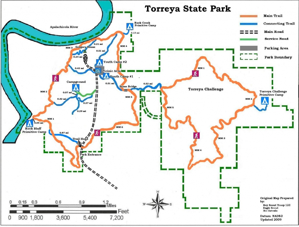 Apalachicola National Forest Campgrounds | Map Of Torreya State Park - Florida State Campgrounds Map