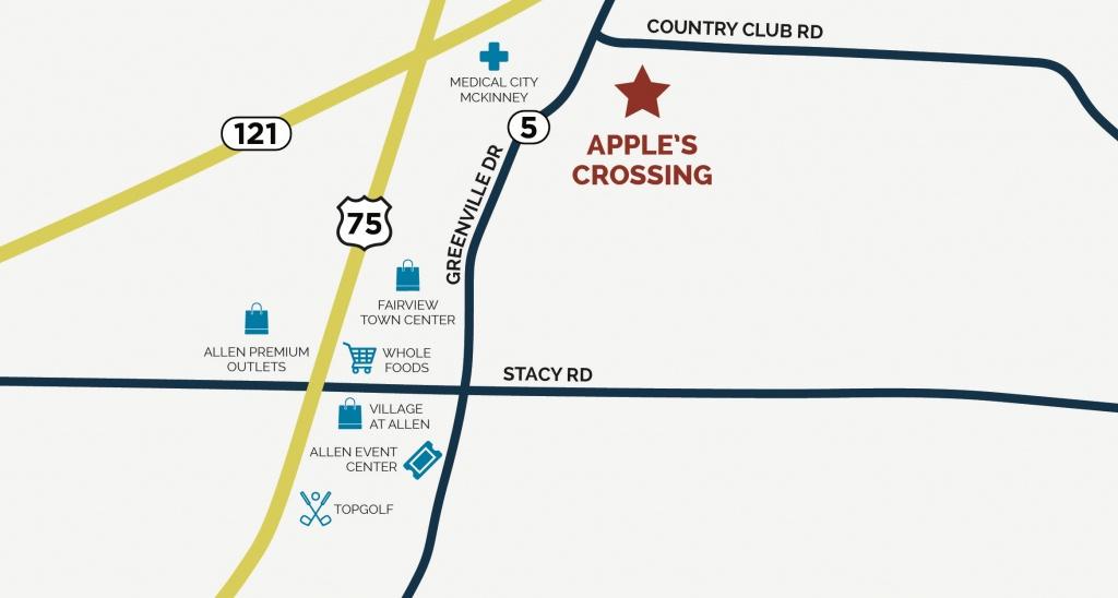 Apple's Crossing In Fairview, Txcb Jeni Homes - Fairview Texas Map