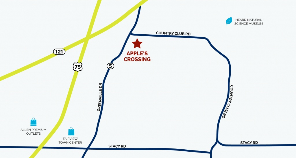 Apple's Crossing In Fairview, Txnormandy Homes - Fairview Texas Map