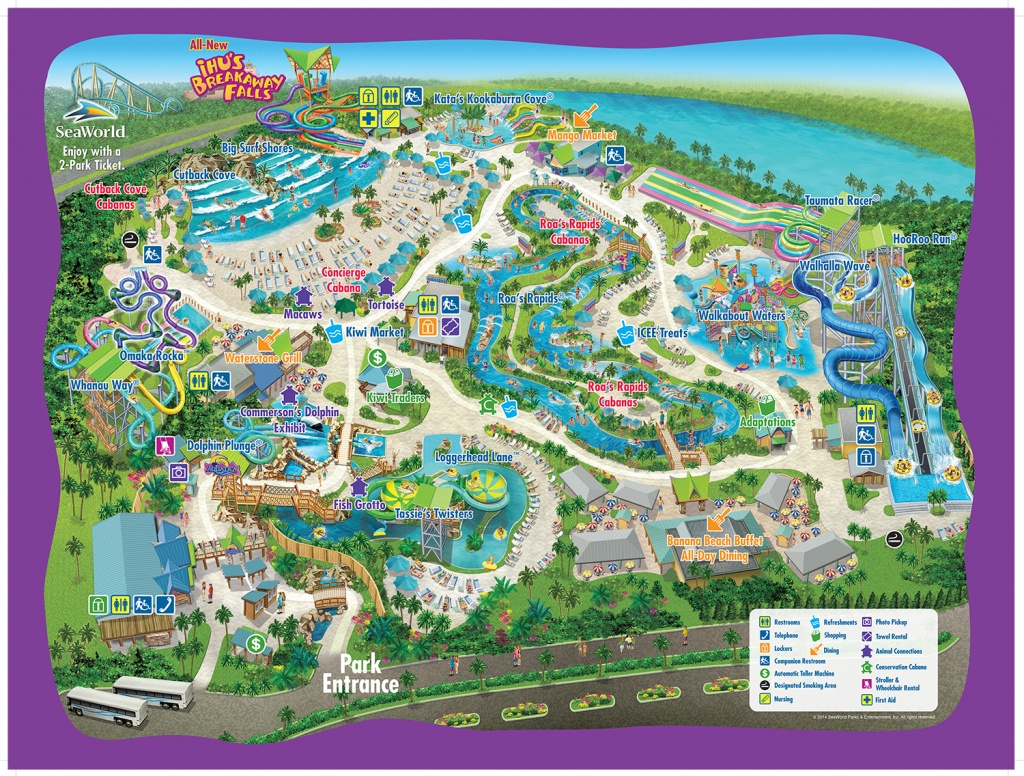 Aquatica - Aquatica Florida Map