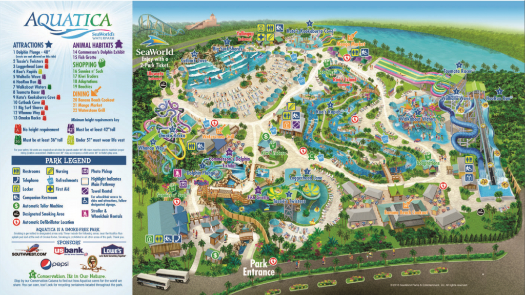 Aquatica Orlando : Austin Texas Lady Bird Lake - Aquatica Florida Map