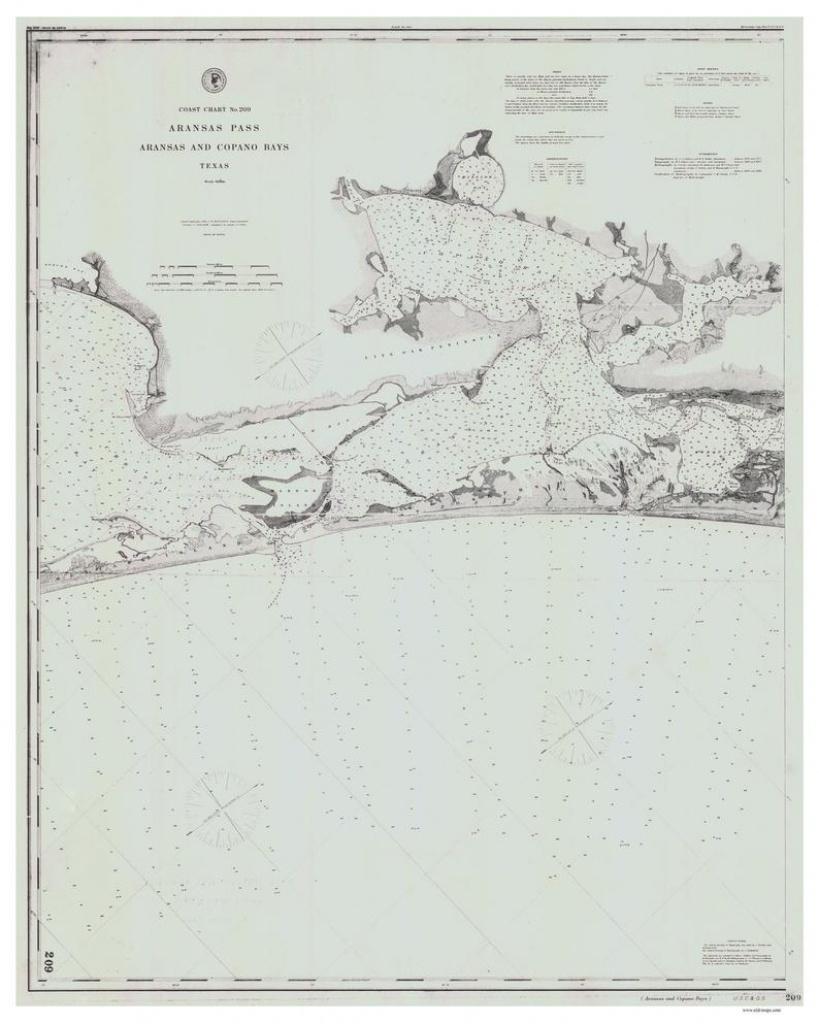 Aransas Pass Aransas And Copano Bays 1884 Nautical Old Map   Etsy - Map Of Aransas Pass Texas