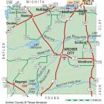 Archer County | The Handbook Of Texas Online| Texas State Historical - Luckenbach Texas Map