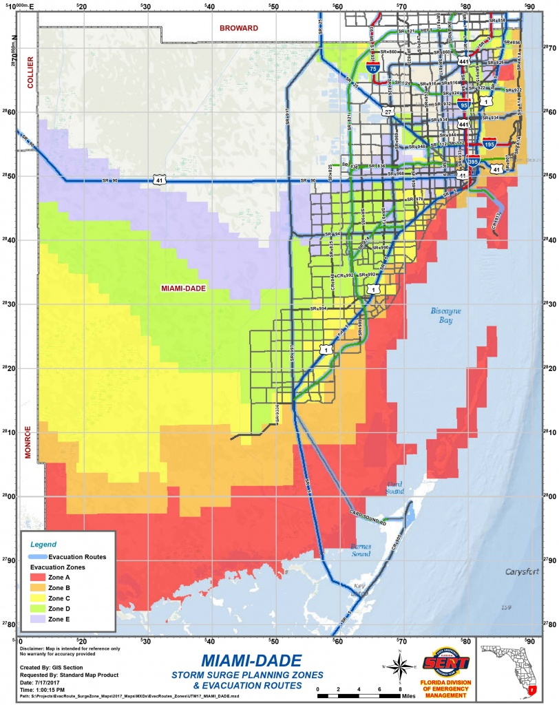 Are You In An Evacuation Zone? Here Is How To Know | Wgcu News - Florida Evacuation Route Map