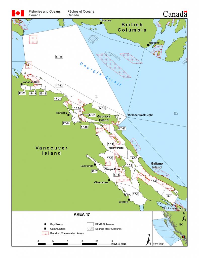 Area 17 (Nanaimo) - Bc Tidal Waters Sport Fishing Guide - Northern California Fishing Map