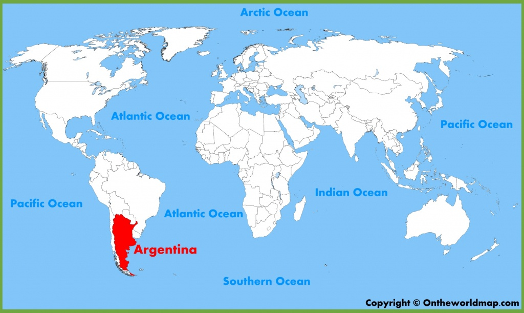 Argentina Location On The World Map - Printable Map Of Argentina