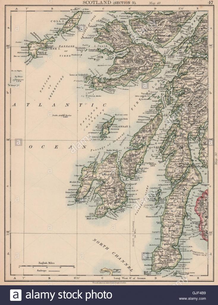 Argyll & Bute. Inner Hebrides. Islay Jura Mull Kintyre Coll Tiree - Printable Map Of Mull