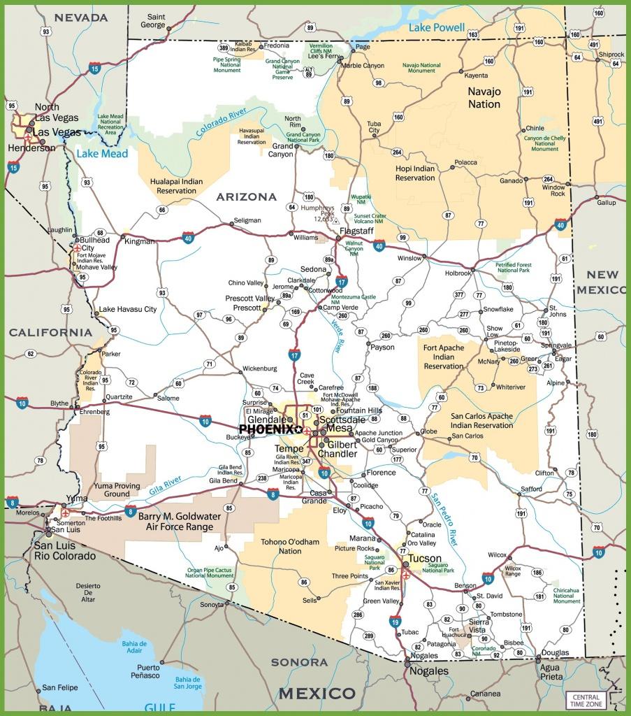Arizona Road Map - Road Map Of California Nevada And Arizona
