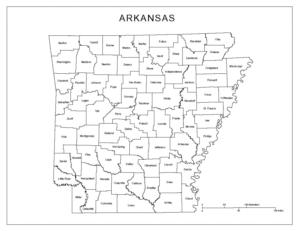 Arkansas Labeled Map - Printable Map Of Arkansas