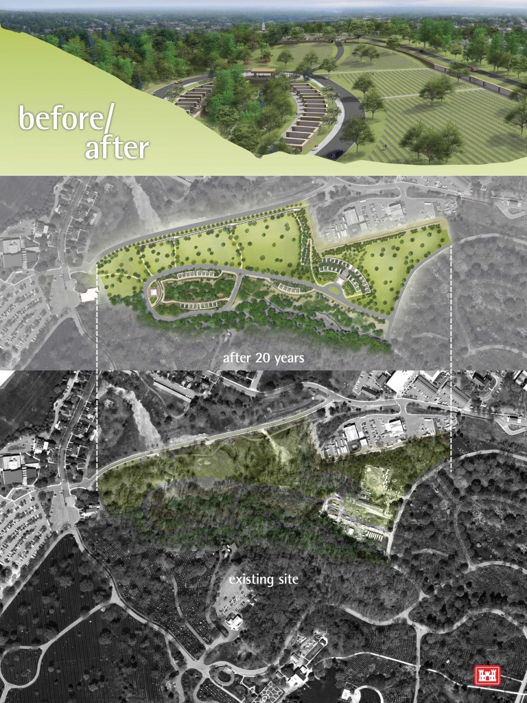 Arlington National Cemetery To Share Design For Millennium Expansion - Arlington Cemetery Printable Map