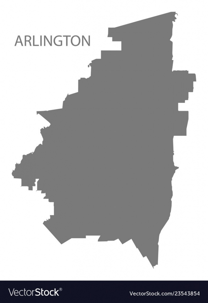 Arlington Texas City Map Grey Silhouette Shape Vector Image - Arlington Texas Map