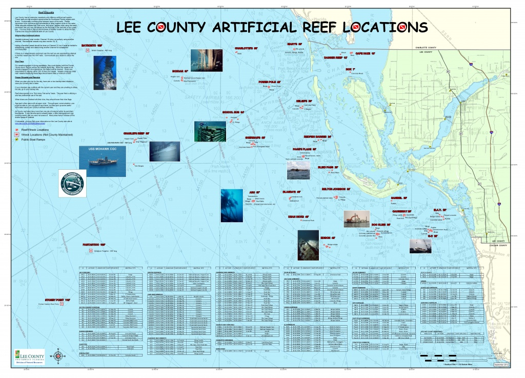Artificial Reefs - Florida Reef Map