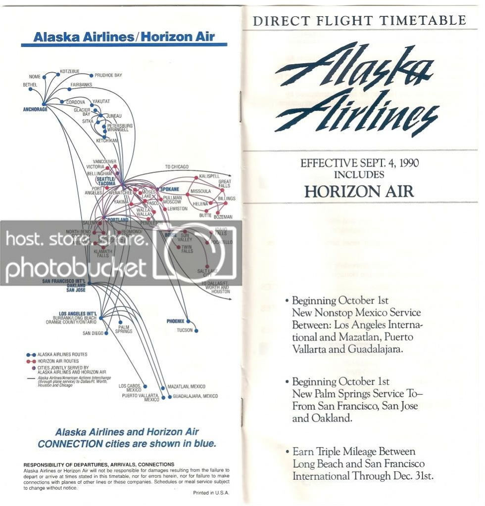 As Route Map 1990 - Flyertalk Forums - Alaska Airlines Printable Route Map