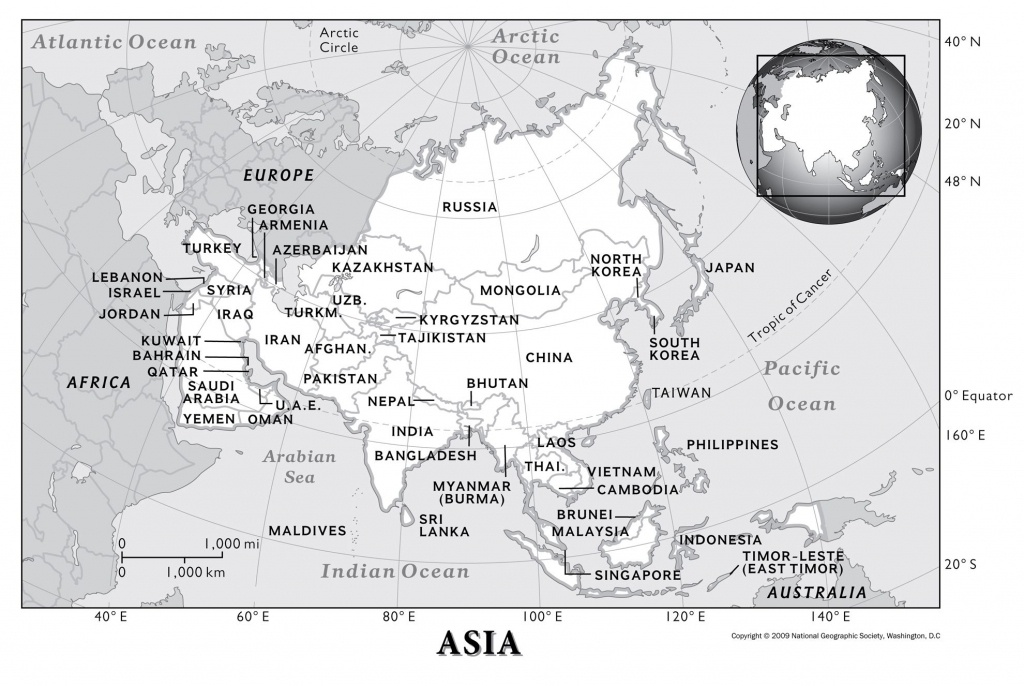 Asia: Physical Geography | National Geographic Society - 5 Regions Of The United States Printable Map