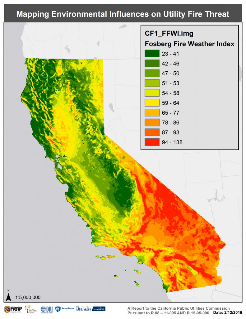Assessing Extreme Fire Risk For California - Sig - California Utility Map