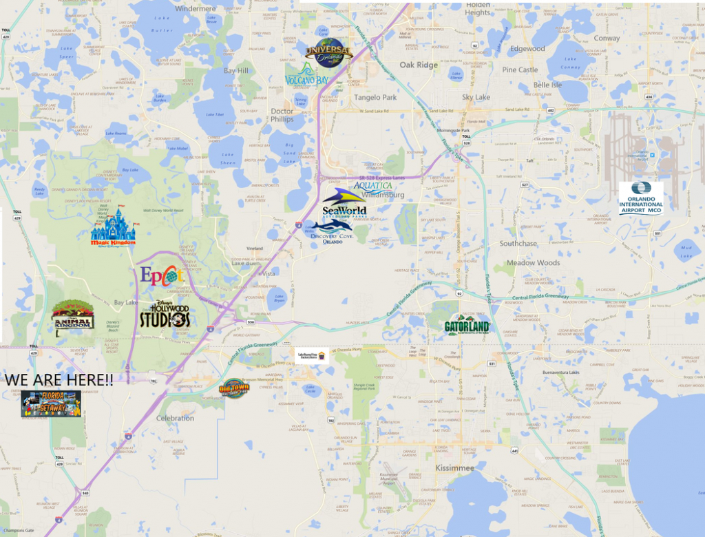 Attractions, Directions, Maps & Golf - Florida Getaway - Champions Gate Florida Map