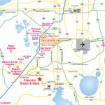 Attractions Map : Orlando Area Theme Park Map : Alcapones   Map Of Florida Showing Disney World
