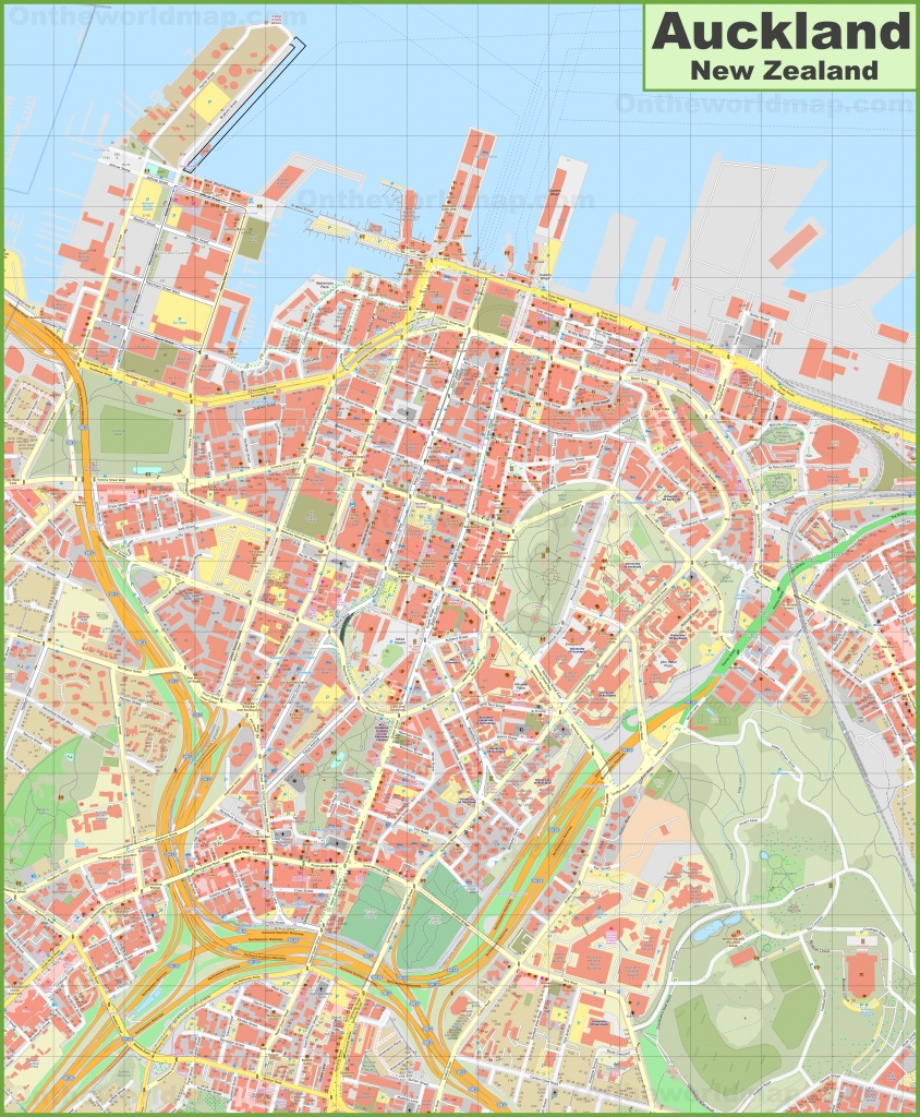 Auckland Cbd Map - Printable Map Of Auckland