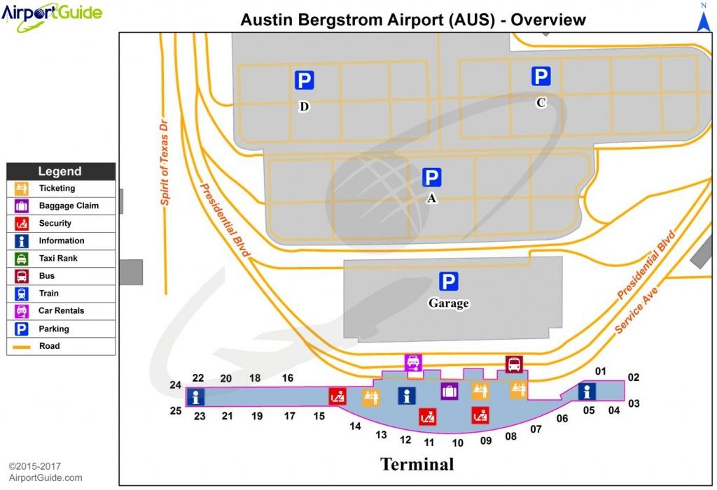 Austin Bergstrom Airport Map - Austin Bergstrom International - Austin Texas Airport Terminal Map